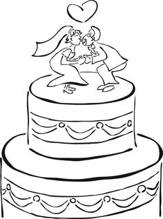 Wedding Coloring Books - Free Pages and Clipart | KIDS-COLORING ...