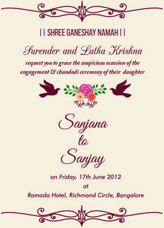 Engagement invitation card for sister with wordings check it out indian engagement invitation wordings stopboris Images