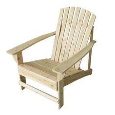 Unfinished Adirondack Patio Chair