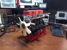 Ericthepoolboy completely reverse engineered a four cylinder engine. With the exception of a few bearings and fasteners, it's fully 3D printable. It's fully functional, too! http://thingiverse.com/thing:644933
