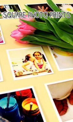 Personalized square photo prints. #DIY Easy DIY Ideas, Craft Ideas