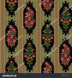 Find Mughal Floral Motif Black Background Pattern stock images in HD and millions of other royalty-free stock photos, illustrations and vectors in the Shutterstock collection. Thousands of new, high-quality pictures added every day. Black Background Pattern, Spider Art, Paisley Art, Tie Dye Crafts, Persian Pattern, Ikat Print, Sewing Art, Floral Motif, Pattern Illustration