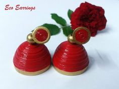 ▶ How to make paper jhumkas part-1 - YouTube