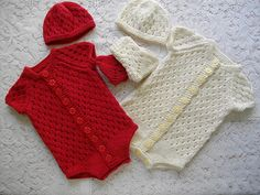 Ravelry: Knitting Pattern No. 13 Baby Onesie 0-3 Months pattern by Lynne Christie