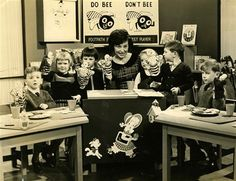 Adrienne Catherwood on the first ever edition of Romper Roomu.tv  All my family were on this as dad worked in UTV.