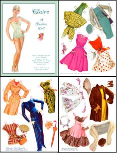 Paper Dolls Vintage Printable Free | Paper Dolls Vintage Paper Dolls Celebrity…