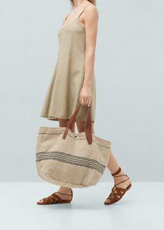 Bolso shopper yute - Mujer