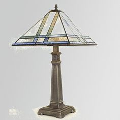 J devlin glass art table lamp - mission stained glass
