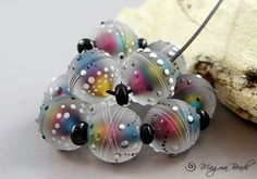 I love these rainbow colored beads from Magma Beads!
