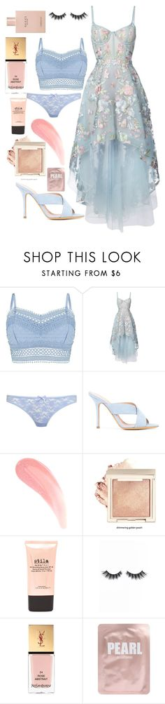 """""""Innocent"""" by iamgl2002 ❤ liked on Polyvore featuring Lipsy, Notte by Marchesa, Miss Selfridge, ALEXA WAGNER, Stila, Violet Voss, Yves Saint Laurent, Lapcos and Gucci"""