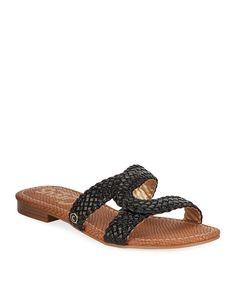 628a51de3adb CIRCUS BY SAM EDELMAN BETTY BRAIDED FAUX-LEATHER SLIDE SANDALS.   circusbysamedelman  shoes