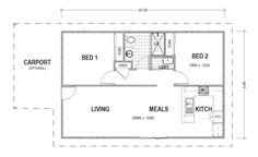2 Bedrooms Granny Flats - Tununda - Granny Flats Warehouse