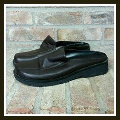 Bare Traps Brown Leather Mules With a cushioned insole these brown leather mules bring comfort to your tired tootsies. A great casual shoe to pair with your favorite comfortable pair of denim. Minimal scuffs and mild creasing from general wear. NO BOX. SORRY NO TRADES. Bare Traps Shoes Mules & Clogs