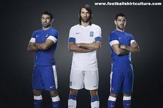 Greece 13/14 Nike Home and Away Football Shirts
