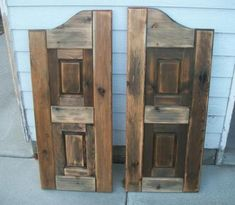 Maybe for kitchen or laundry room entry. Awesome Saloon Doors Beautiful- going old school!