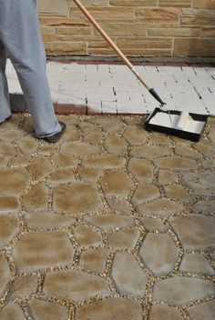 Make your own cobblestone patio