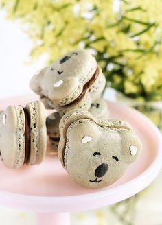 Caramel Koala Macarons by raspberri #cupcakes, via Flickr