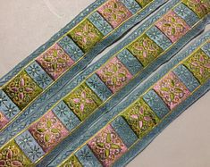 Check out our pink jacquard ribbon selection for the very best in unique or custom, handmade pieces from our shops. French Blue, Bohemian Rug, Vintage Items, Ribbon, Mauve, The Incredibles, Metallic Gold, Green, Pattern