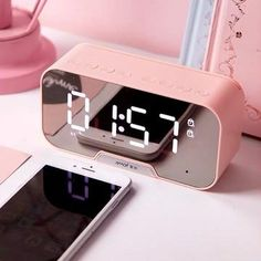 Multifunction Alarm Clock and Speaker: 5 colors – Otrio Stationery & Gifts Rose Gold Room Decor, Rose Gold Rooms, Cute Bedroom Decor, Room Ideas Bedroom, Kawaii Room, Room Accessories, Dream Rooms, Room Inspiration, Cool Things To Buy