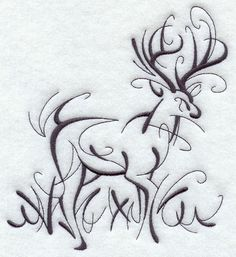 Machine Embroidery Designs at Embroidery Library! - A Intricate Ink Deer Design Pack - Lg Wood Burning Crafts, Wood Burning Patterns, Wood Burning Art, Embroidery Files, Machine Embroidery Designs, Deer Tattoo, Tattoo Ink, Arm Tattoo, Hand Tattoos