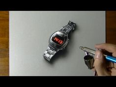 Drawing my watch - How to draw 3D Art - YouTube