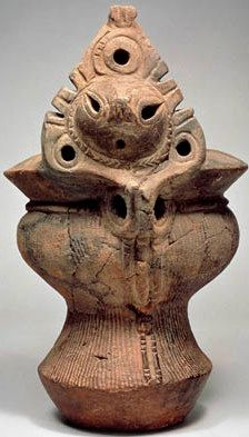 Japan  Deep Bowl with Human-Face Ornament  Middle Jomon (3000-2000 BC)