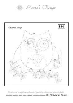 Free download Own pattern LD184 Print as A5 format