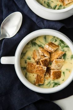 This cheesy spinach bisque is a bit on the rich side but the perfect meal on a cold winter day and can be made with an assortment of cheese or just cheddar!