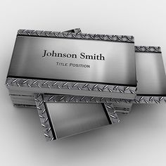 Leather metal business card silver metal productzazzle leather metal business card silver metal productzazzle pinterest business cards business and card templates reheart Images