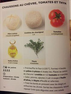 Chaussons au chèvre, tomates et thym