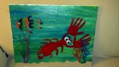 How to make hand and foot print sea creatures