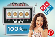 Domino's Pizza offering UPTO 100% OFF ON Pizza  http://www.paisebachaoindia.com/get-upto-100-off-pizza-dominos-pizza/