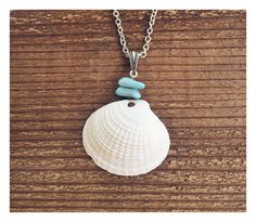 New Magic: Handmade Natural Shell Pendant Necklace found on an evening beach walk! #bohojewelry #handmade #beachy #coconuttuesdays