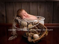 baseball newborn baby at inspire portrait