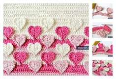 If you are looking to make something just a little bit different. Here is a awesome Multicolored Crochet Heart Stitch Free Patterns.