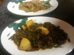 spinach curry n & bindi curry