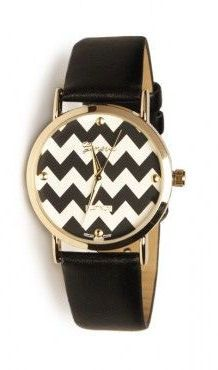 Chevron Watch in Black