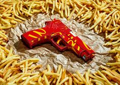 Fast food weaponry, by Justin Poulsen  (oh....)
