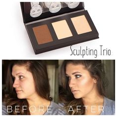 The sculpting trio helps get that perfect contouring look! #Younique #makeup #contour #sculpting