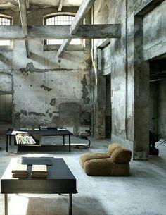 samenspel van gietvloer en beton vind ik onwijs mooi