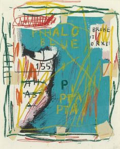 Jean-Michel Basquiat, UNTITLED (PHALO BLUE) 1983 on ArtStack #jean-michel-basquiat #art
