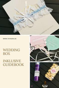 Die Box enthält nicht nur das Guidebook, sondern allerhand hochwertige Produkte von Box-Partnern zum Kennenlernen und zusätzliche Informationen, rund um das Thema Hochzeit.