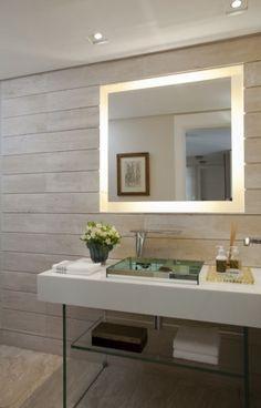 Lindo espelho com LED, diversos modelos e tamanhos, confira.  Arquitetura, Design de Interiores, Decoracao, Vidro, Vidracaria, vidracariashowglass.com.br