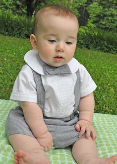 Sashiko sweetness! This baby boy two piece shirt and knicker set showcases that dear Sashiko stitch - done on Baby Lock's Sashiko machine. The shirt front has rows of single flipstitched skinny yarn and stitching which mimics tucks.
