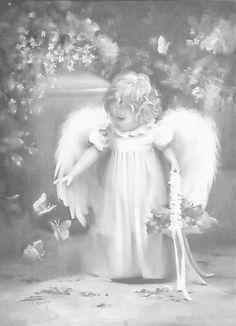 Coloring for adults-kleuren voor volwassenen Angel Images, Angel Pictures, Colouring Pages, Adult Coloring Pages, I Believe In Angels, Angels Among Us, Guardian Angels, Angel Art, Fairy Art