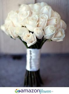 How To Make Wedding Bouquets With Fresh Flowers : Wedding Bouquet pertaining to Cheap Real Flowers For Wedding Cheap Wedding Bouquets, Diy Wedding Bouquet, Bridal Bouquets, Wedding Dresses, Second Weddings, Simple Weddings, Wedding Flower Arrangements, Wedding Centerpieces, Amazon Flowers