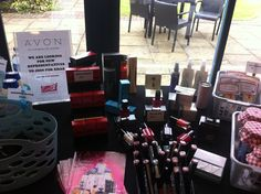 Avon table set up for fayre