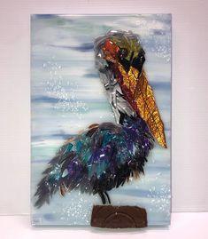 Photo Gallery | JMSArtStudios Broken Glass Art, Shattered Glass, Sea Glass Art, My Glass, Fused Glass, Smash Glass, Glass Birds, Resin Crafts, Glass Design