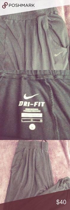 Black loose dri-fit drifit workout pants Very soft fabric.10/10 condition Nike Pants