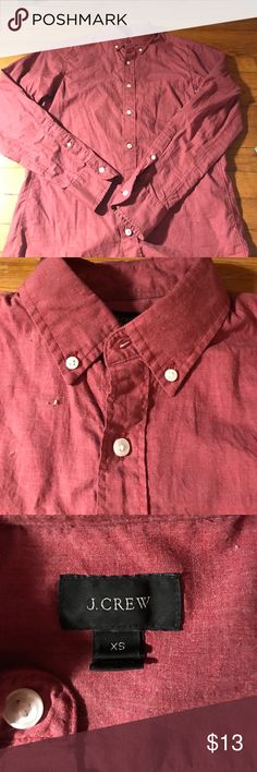 Jcrew red button down shirt Jcrew red button down shirt J. Crew Shirts Casual Button Down Shirts